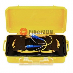 Fiber Optic OTDR Launch Cable Box, OM3/OM4 150m SC/UPC LC/UPC Fiber