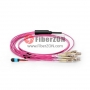 10M MTP Female to 10 LC UPC Duplex 20 Fibers 10G OM4 50/125 Multimode Harness Cable, Polarity B, Elite, LSZH Bunch