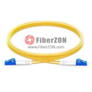 5M LC UPC to LC UPC Duplex 2.0mm LSZH 9/125 Single Mode Fiber Patch Cable