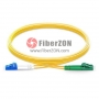 1m LC APC to LC UPC Duplex 2.0mm PVC(OFNR) SMF Bend Insensitive Fiber Patch Cable
